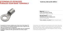 TERMINAL COBRE DESNUDO       C-12N