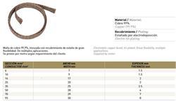 MTS.MALLA FLEXIBLE COBRE 95MM 30X8,0MM