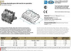 GRAMPA PEINE BRONCE 70/120 GD4