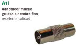 ADAPTADORA MACHO/GRUESO-HEMBRA/FINA A1I