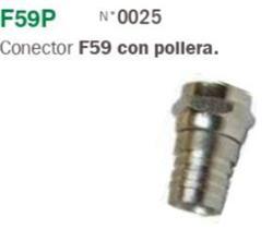 CONECTOR (F) P/RG59 C/POLLERA