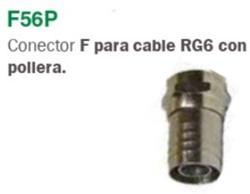 CONECTOR (F) P/RG-6 C/POLLERA