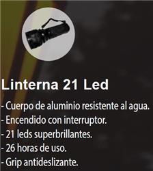 LINTERNA 21 LED ALUMINIO RESISTENTE/AGUA 3XAAA