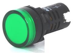 SENAL LED VERDE  24V D=22MM