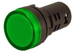 SEÑAL LED VERDE 220V PLAD16-G