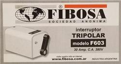INTERRUPTOR 3X30A F-603 FIBOSA