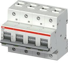 TERMOMAGNETICO 4X80A ABB  S804B-C80   10KA