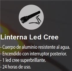 LINTERNA 1 LED ALTA POTENCIA 2 PILAS AA
