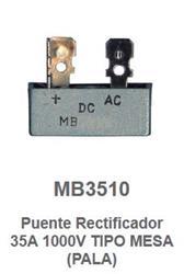 PUENTE RECTIFICADOR 35A/1000V