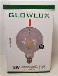 LAMPARA LED FILAMENTO RECTO G125 8W CALIDO 220V E27 BROWN DIMMER(20)