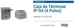 CAJA DETRAS MEDIDOR 4 MOD.IP54 TAPA TRANSP.600 VARI