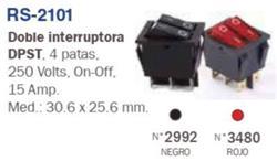 INTERRUPTOR DOBLE TECLA 220V 15A NEGRO