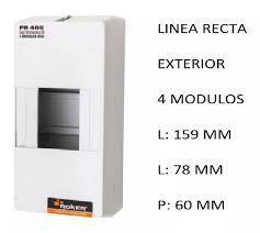 CAJA APLICAR 4 MODULOS S/PUERTA IP20 PR400