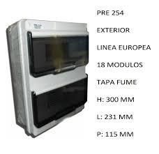 CAJA APLICAR 18 MODULOS P/FUME IP55 PRE254