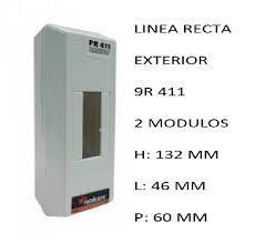 CAJA APLICAR 2 MODULOS S/PUERTA IP20 PR411