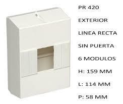 CAJA APLICAR 6 MODULOS S/PUERTA IP20 PR420