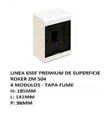 CAJA APLICAR 4 MODULOS P/FUME IP40 ZM504