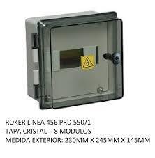 CAJA APLICAR 8 MODULOS TRANSPARENTE IP65 PRD5501
