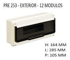 CAJA APLICAR 12 MODULOS P/FUME IP55 PRE253