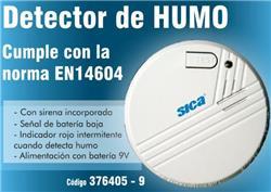 DETECTOR DE HUMO AUTONOMO 9V SICA 376405