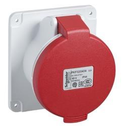 BASE EMBUTIR RECTA 3X32+TIERRA 380V IP44 PKF32G434