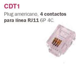 PLUG RJ-11  P/ LINEA   CDT1