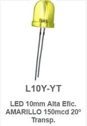 LED 10MM AMARILLO ALTA EF. L10Y-YT