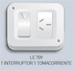INTERRUPTOR EXTERIOR 1 PUNTO Y TOMA