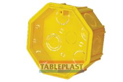 CAJA PVC OCTOGONAL GRANDE AMARILLA  CT55R TABLEPLAST