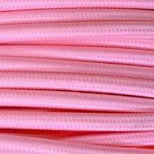 MTS.CABLE TEXTIL 2X0,50 MM ROSA
