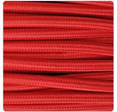 MTS.CABLE TEXTIL 2X0,50 MM ROJO