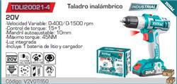 TALADRO 13MM INALAMBRICO 20V 1500RPM TDLI20021-4