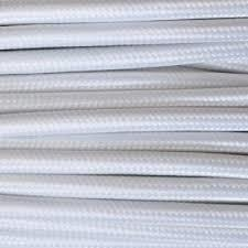 MTS.CABLE TEXTIL 2X0,50 MM BLANCO