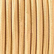 MTS.CABLE TEXTIL 2X0,50 MM  MARFIL