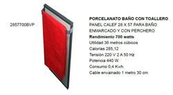 *PANEL CALEFACTOR 28X57 36MT3 440=700W LUJO BAÑO