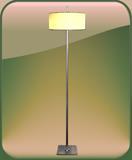 LAMPARA DE PIE AURORA PLATIL