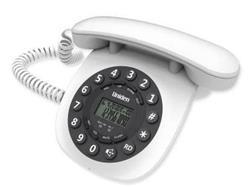 TELEFONO MESA RETRO BLANCO 8601 MANOS LIBRES