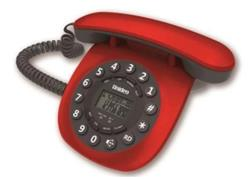 TELEFONO MESA RETRO ROJO 8601 MANOS LIBRES