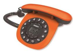 TELEFONO MESA RETRO NARANJA 8601 MANOS LIBRES