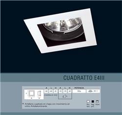 EMBUTIDO 4111 AR111 BLANCO CON ZOCALO