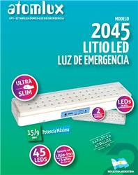 LUZ EMERGENCIA 45LEDS AUT.9/15H.ULTRASLIM 2045 LITIO