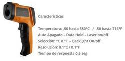 TERMOMETRO INFRARROJO LASER (-50/550°C) 12:1 GM-550