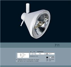 CABEZAL 711 ACERO AR 111 CON ZOCALO GU10