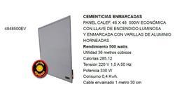 PANEL CALEFACTOR 48X48 36MT3 330=500W ECON-LUJO