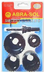 SIERRAS COPA SET X 6 EN BLISTER (32-38-44-54)mm