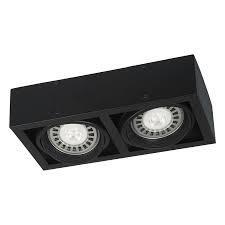 PLAFON BOX 2AR111 BLANCO CON ZOCALOS GU10