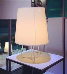 LAMPARA DE MESA TULIPÓN ACRILICO BLANCO E27