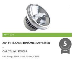 LAMPARA LED  AR111  15W 24° 2700K DIMERIZABLE GU10 WLG