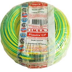 MTS.CABLE PLASTIX 1 MM VERDE/AMARILLO