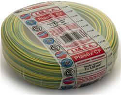 MTS.CABLE PLASTIX 1,5 MM VERDE/AMARILLO